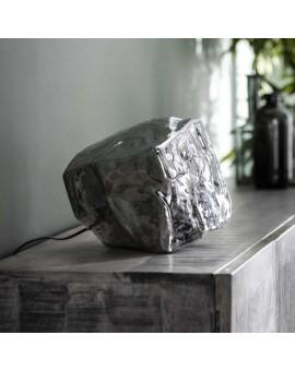 LAMPA STOŁOWA ICE SREBRNA